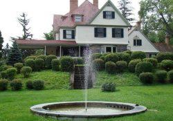 Fountain in front of Idlwilde Inn
