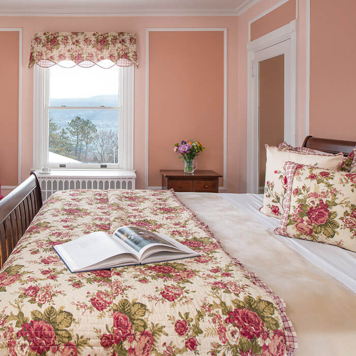 Seneca Lake Accommodations - Room 9 bed