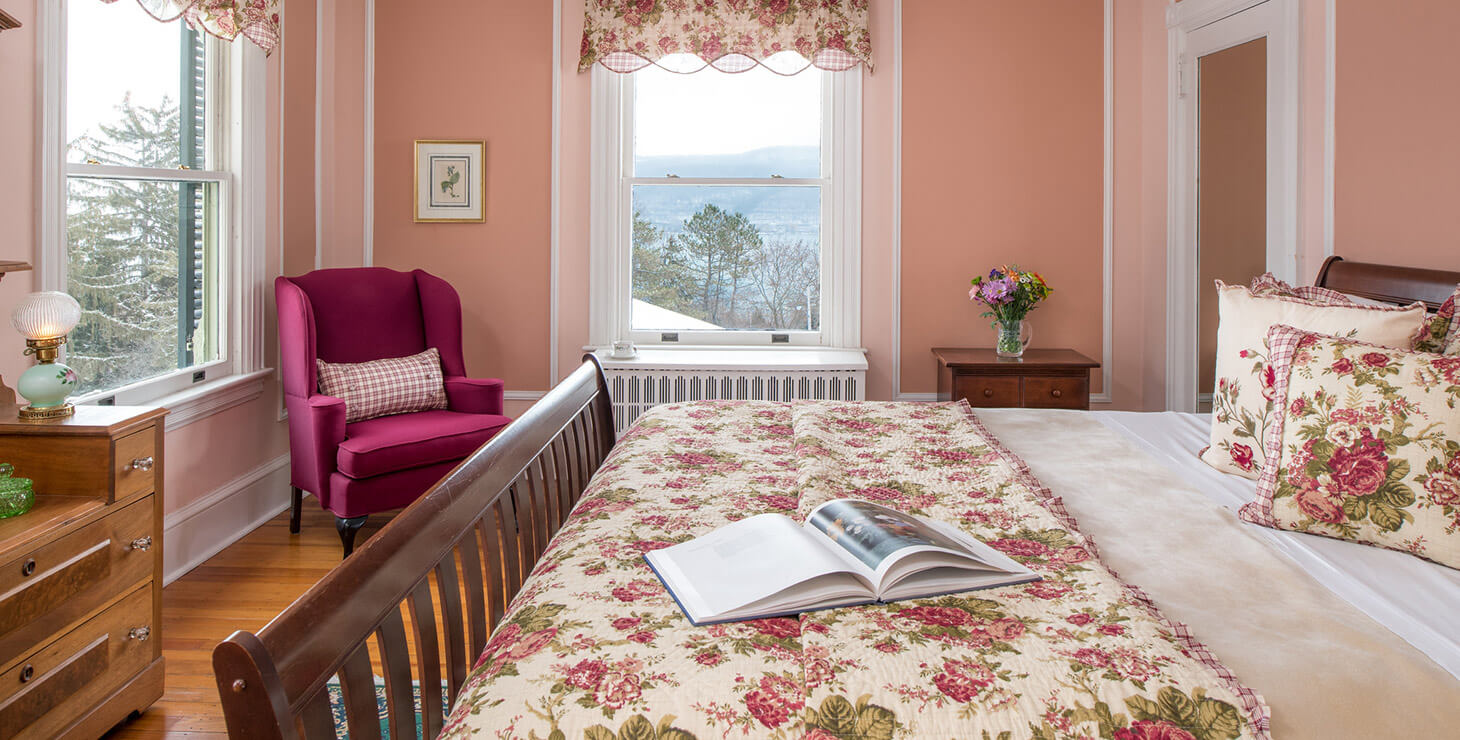 Seneca Lake Bed and Breakfast - Room 9 bed