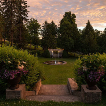 Watkins Glen B&B - garden fountain