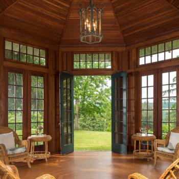 Watkins Glen B&B - gazebo interior