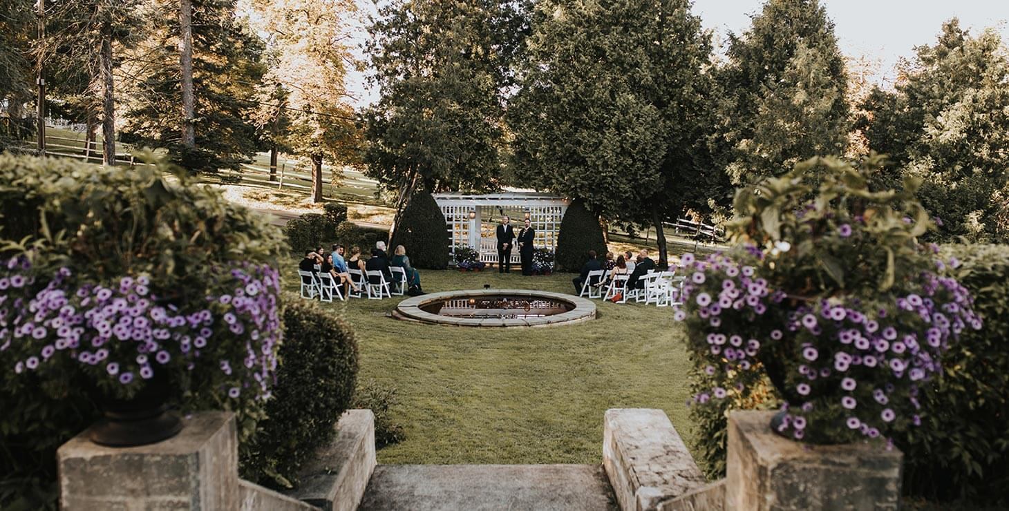 Finger Lakes Elopement Venue - Bride and groom in love