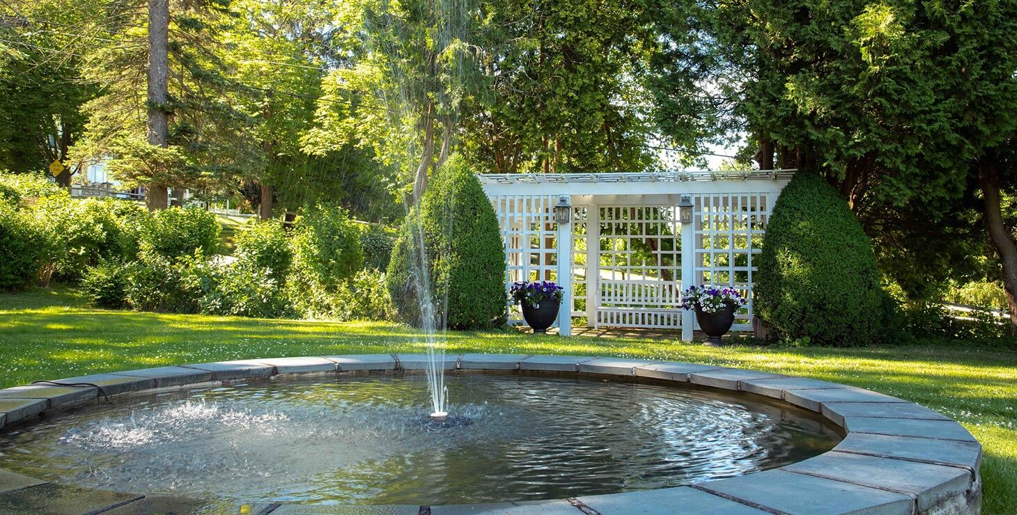 The Fountain at our Finger Lakes Wedding Venue