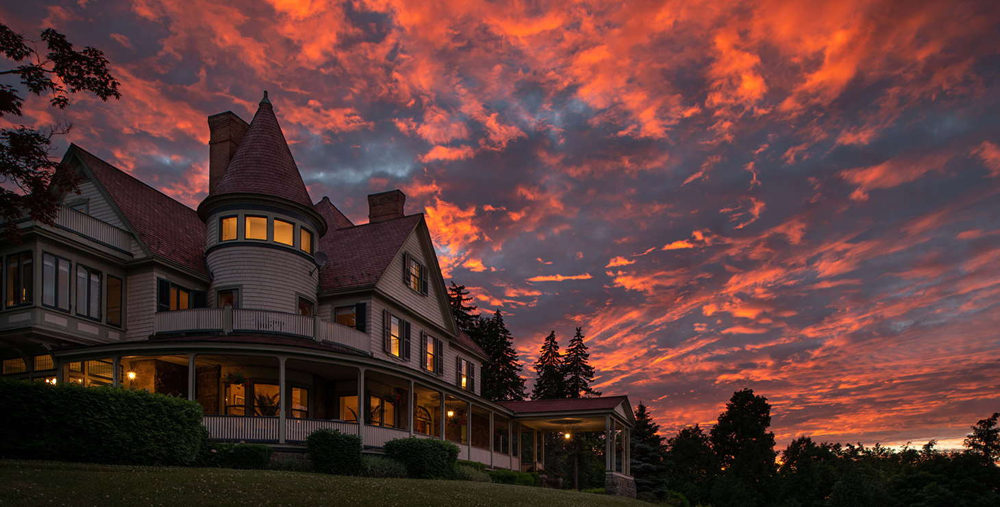 Stunning sunset at our Watkins Glen bed and breakfast