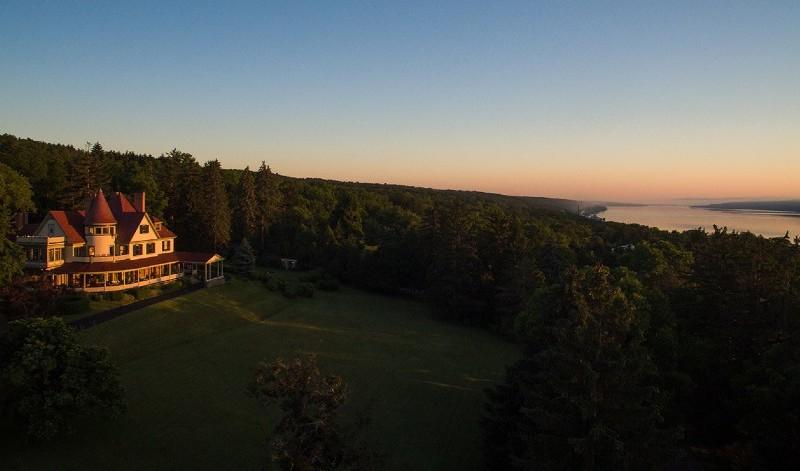 Summer Sunset at Idlwilde Inn on the Finger Lakes.